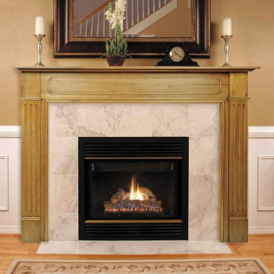 excellent fireplace mantel kits decorated with precious ornaments