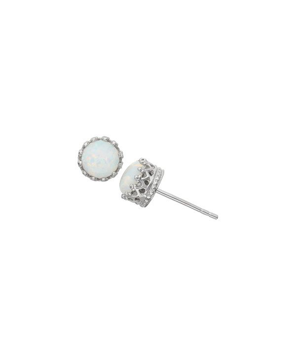Look at this Opal & Sterling Silver Round-Cut Crown Stud Earrings on #zulily today!