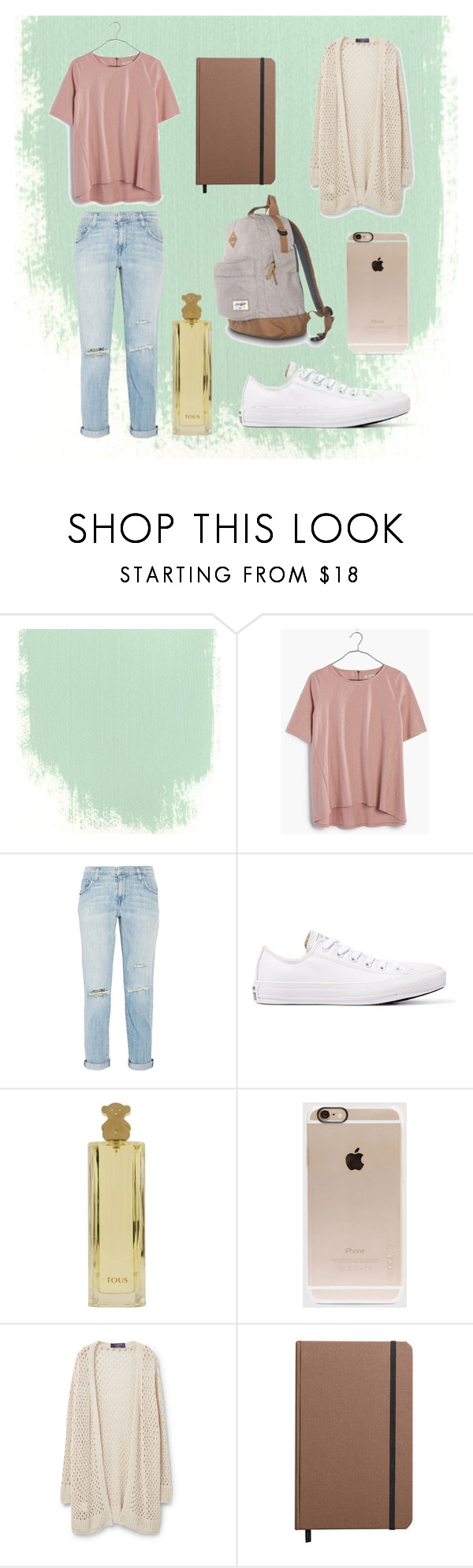 """Clases"" by rominajavierafg on Polyvore featuring moda, Madewell, Current/Elliott, Converse, TOUS, Incase, Violeta by Mango y Shinola"