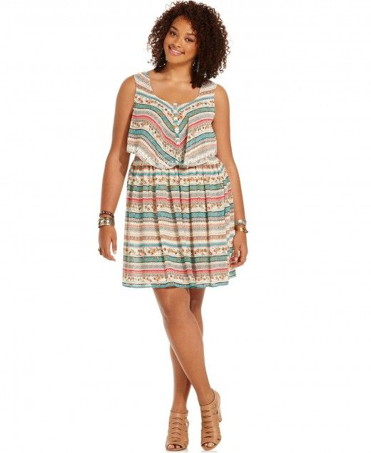 American Rag Plus Size Sleeveless Floral Print Dress – Plus Size