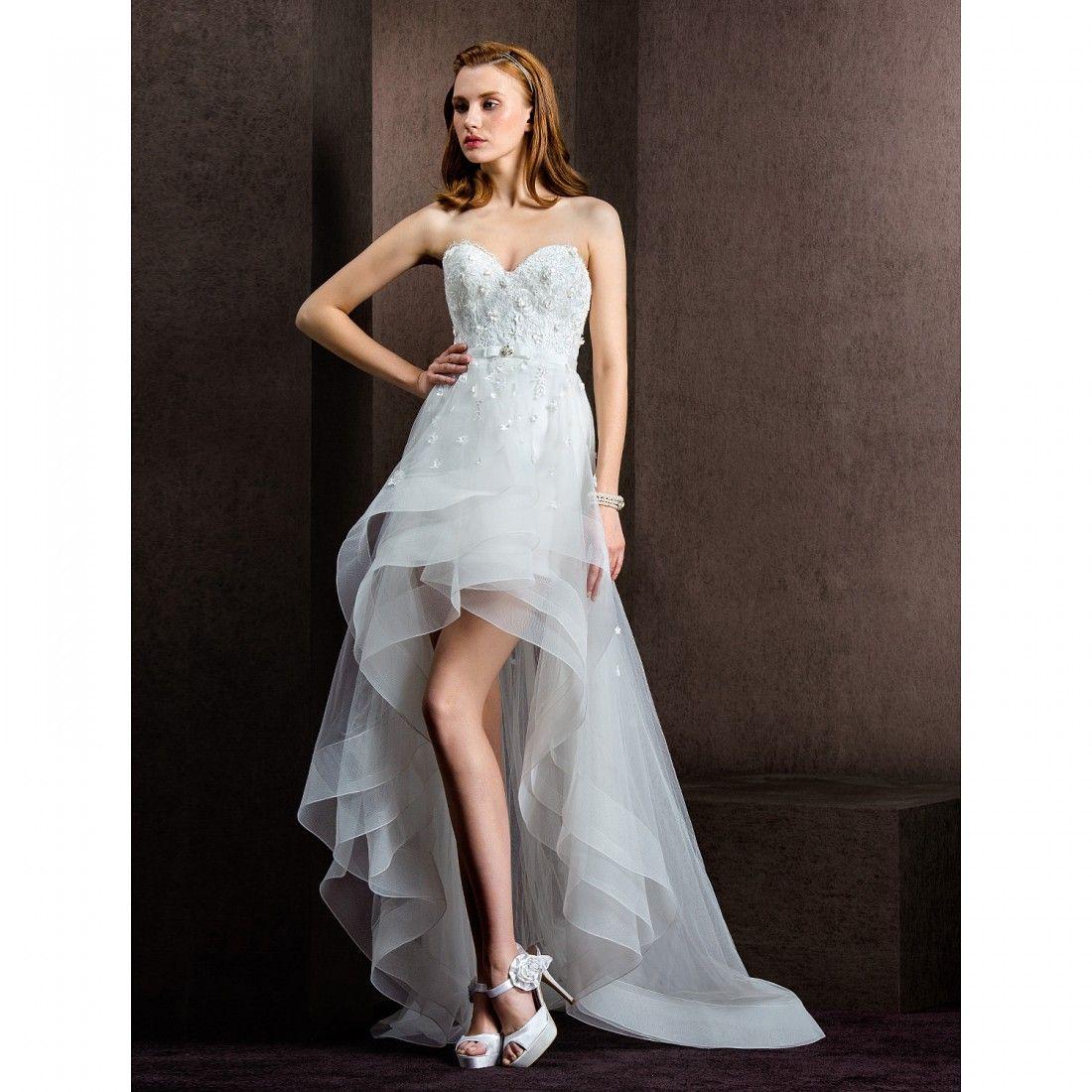Mini wedding dresses  SheathColumn Sweetheart Tulle ShortMini Wedding Dress  Esküvő