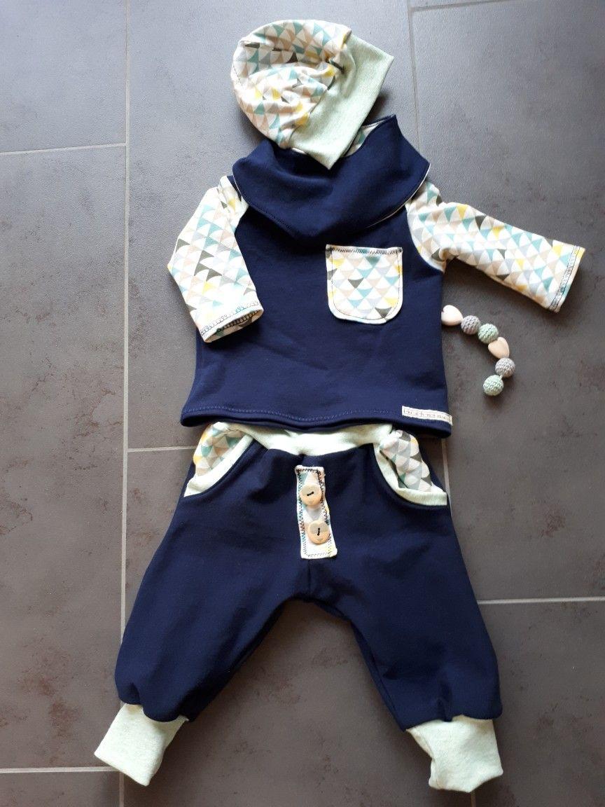 Outfit  mit Wendemütze und Wendhalstuch