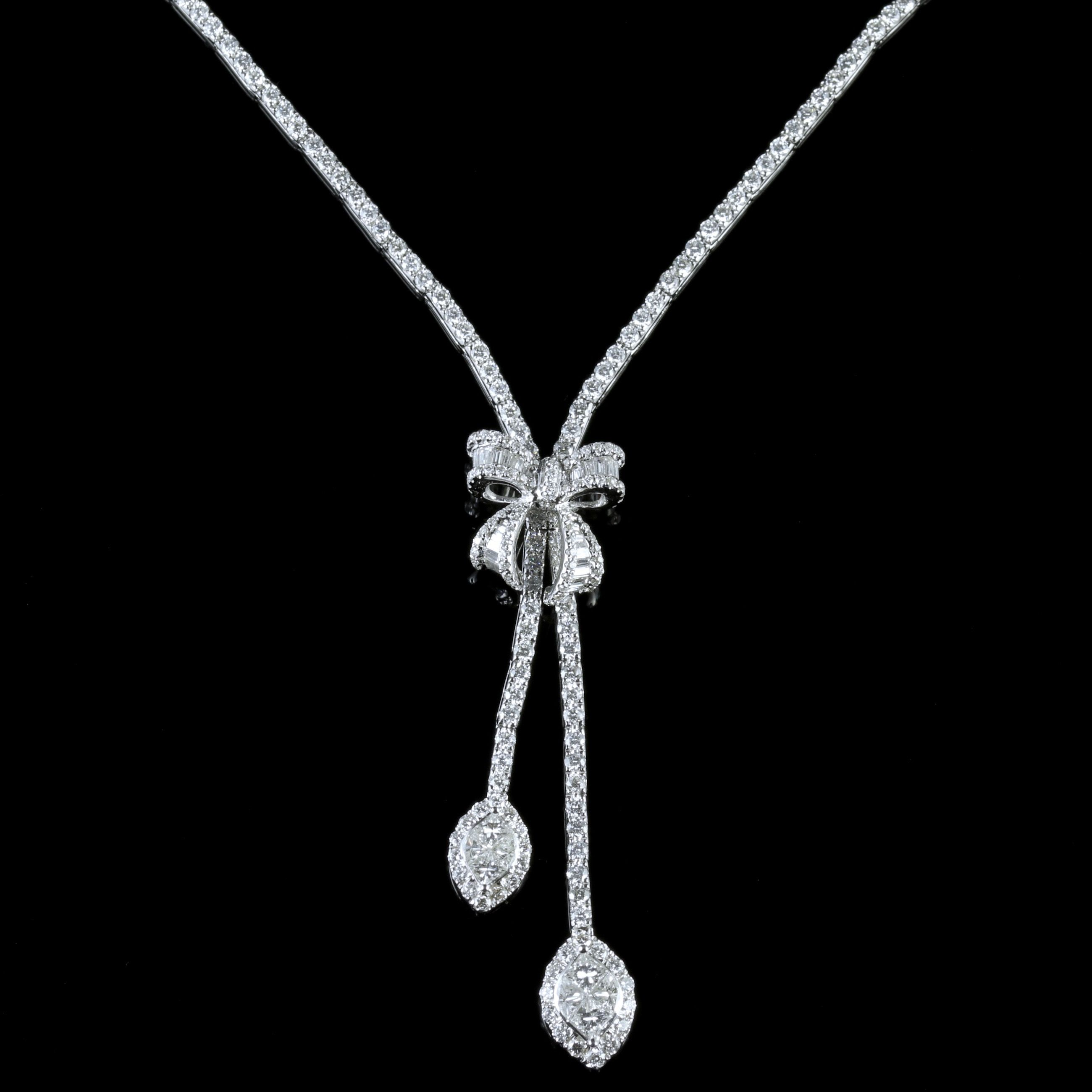 marquis products c large necklace requin athena diamond