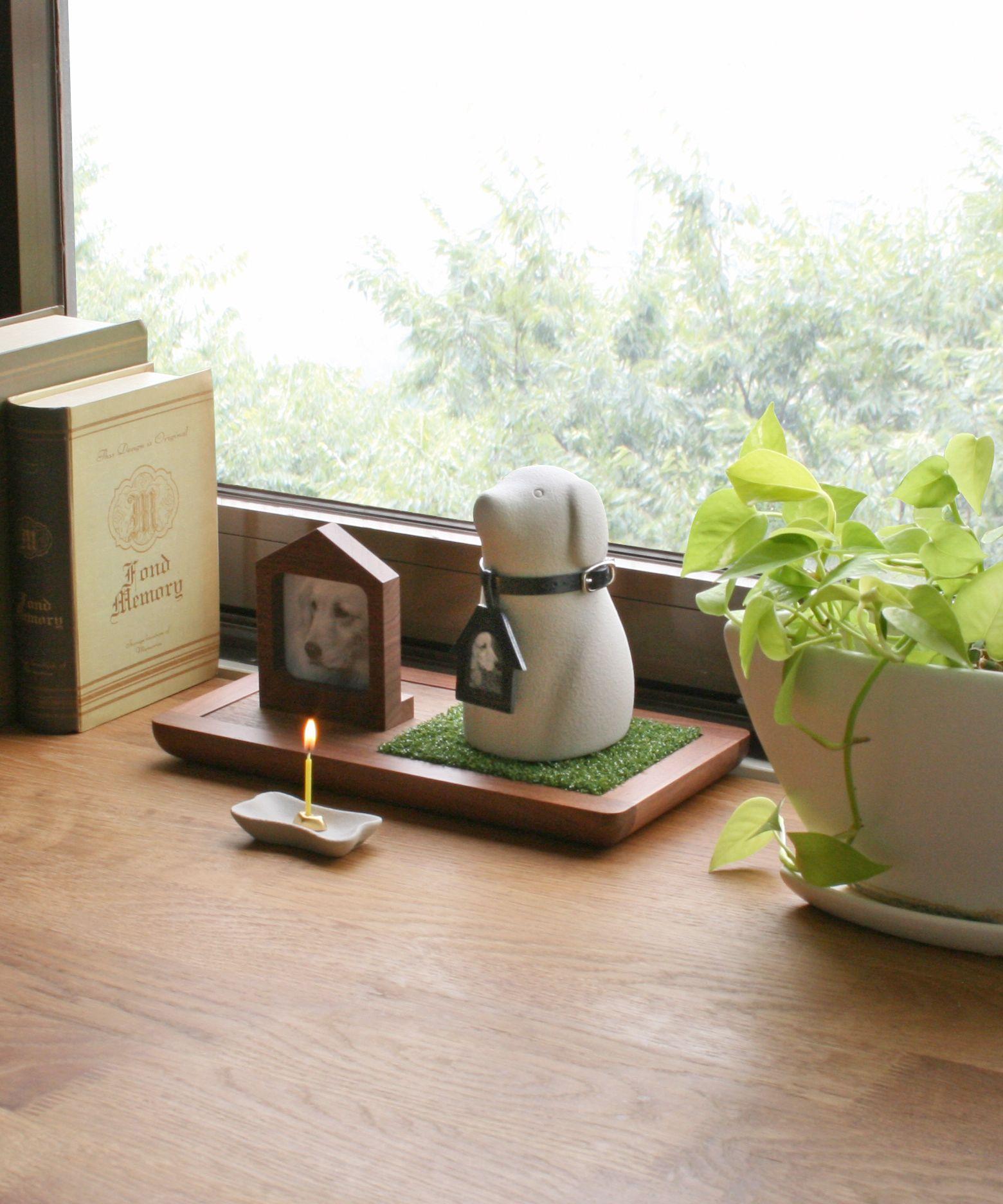 Coccolino ペット仏壇 骨壷 無垢のウォールナット製ステージ ペット 仏壇 ペット 骨壷 仏壇