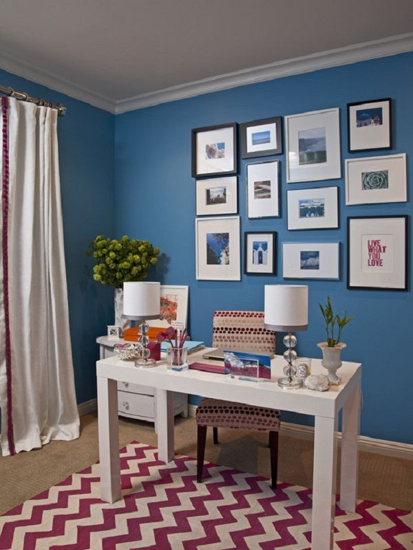 Cool Blue Home Office Color Scheme Home Office Decorating Color