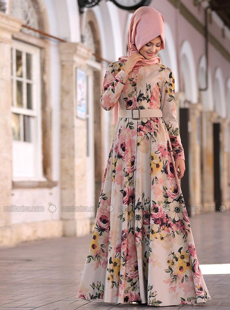 Cicekli Percem Elbise Krem Pinar Sems Pakaian Wanita Pakaian Jelita Model Pakaian