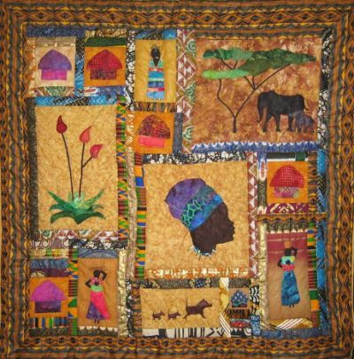 African Windows Quilt by Kalahari | Nähen Quiltideen | Pinterest ...