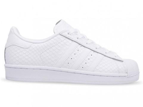 the latest 511d4 294bd adidas Superstar Snakeskin Womens - Triple White adidas superstar  sneakers