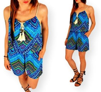 Kombinezon Spodenki Azteckie Wzory Boho Styl S M 6278491753 Oficjalne Archiwum Allegro Fashion Swimwear Rompers