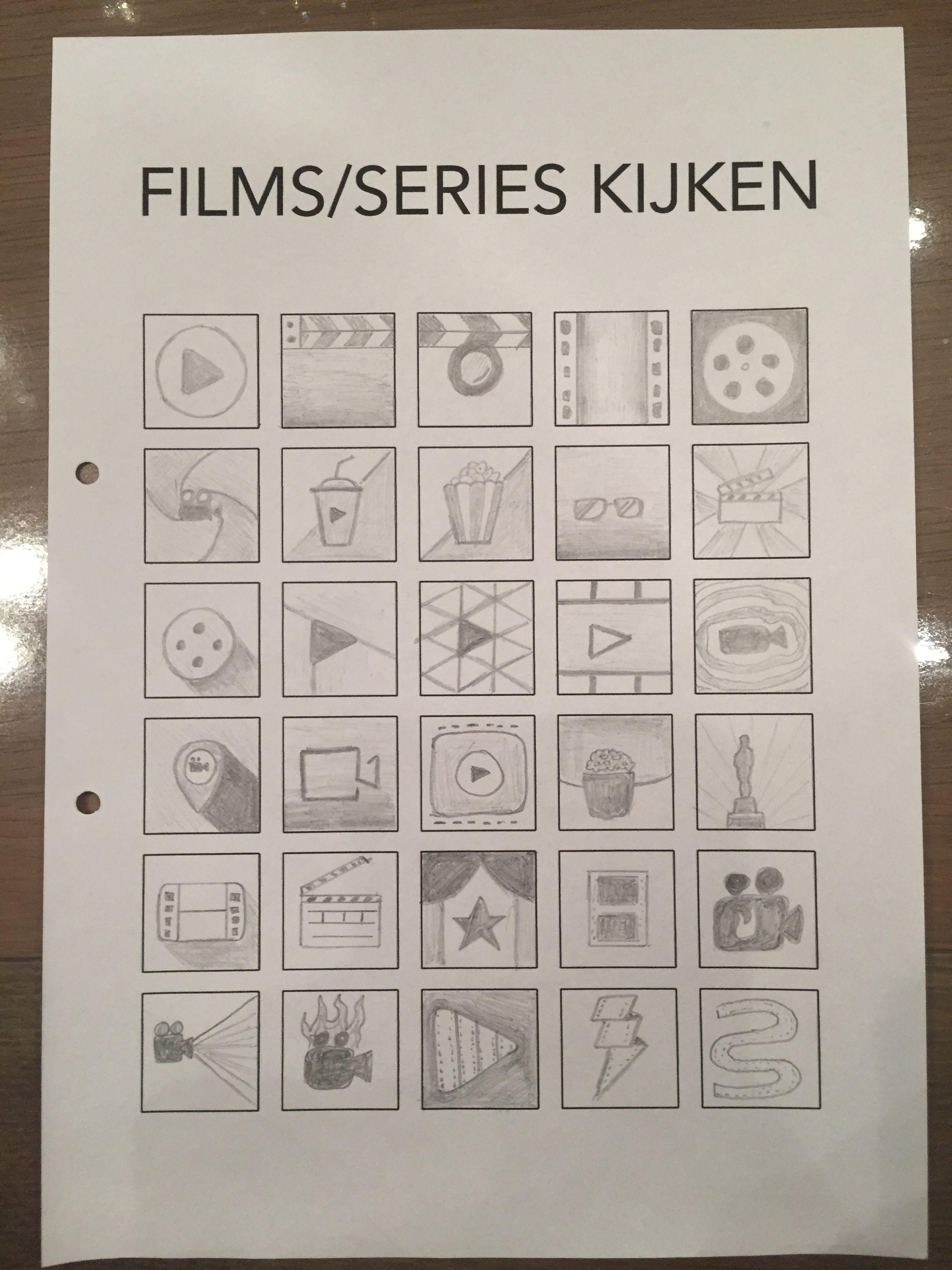 Eerste schetsen: FILMS/SERIES KIJKEN