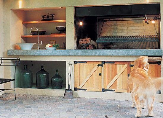 quincho, parrilla, decoracion, diseño, muebles Cocinas Pinterest