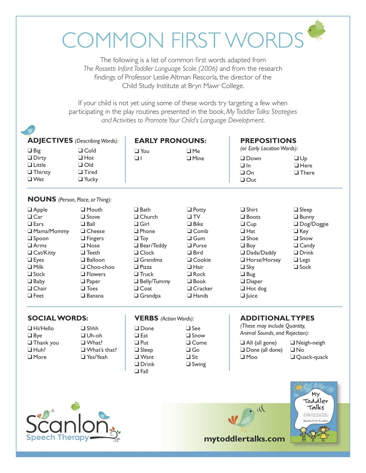 mon First Words Toddler Language Pinterest