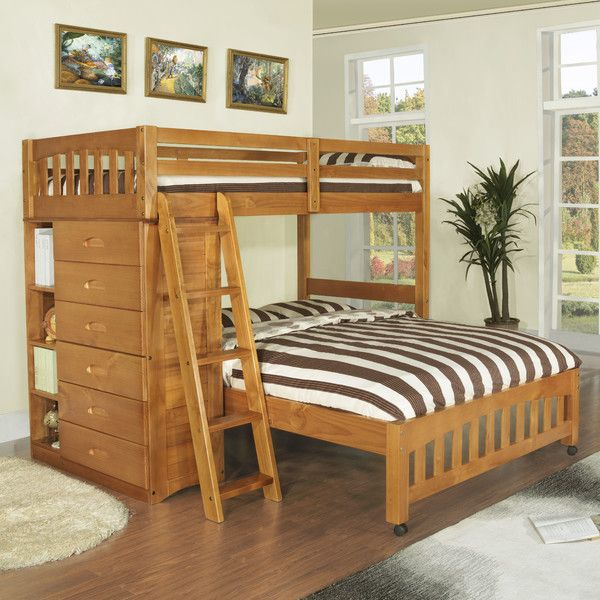 Popular Discovery World Furniture Weston Twin over Full L Shaped Bunk Bed & Reviews Photo - Popular bunk beds with storage Photo