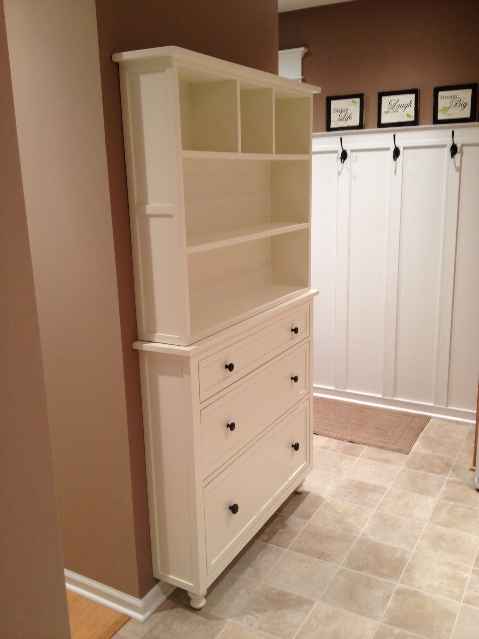 Pin by michele lascio on mudroom kreg jig projects diy - Shallow dressers for small spaces ...
