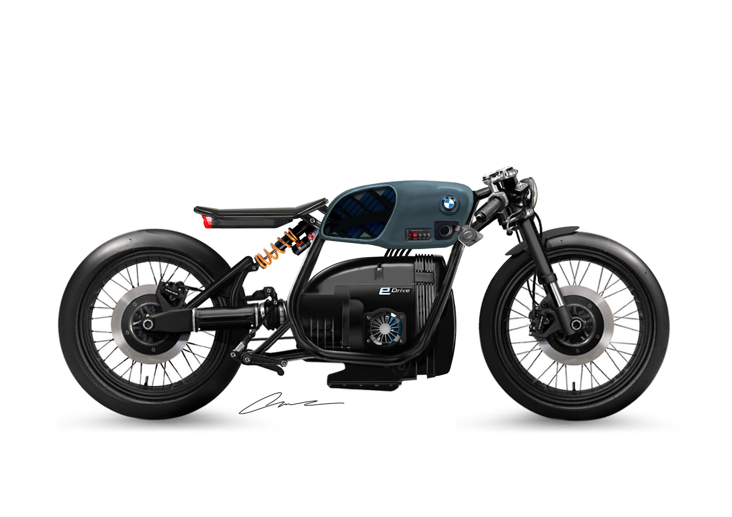 Bmw Er80 Electric Motorcycle Form Study By Luuc Muis Electric