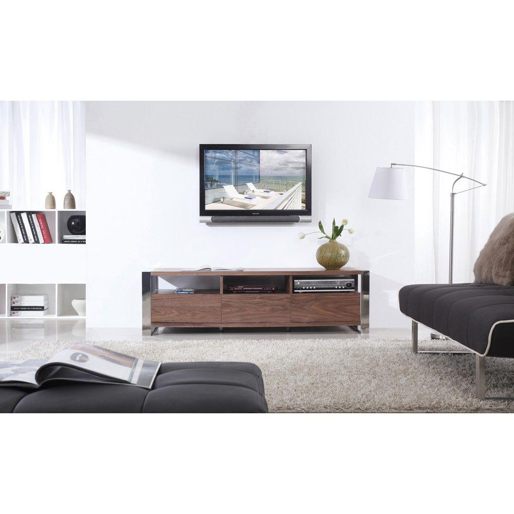 B Modern Stylist TV Stand in Light Walnut by B Modern