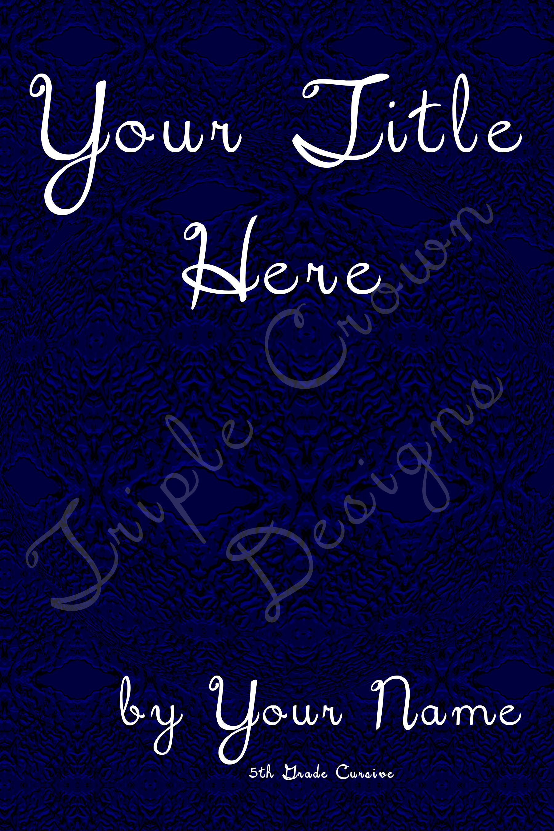 blue background, book cover, ebook cover, print cover ...