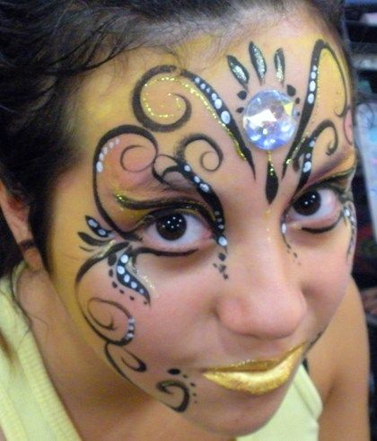 Mardi Gras & Masquerade Face Painting by Face Painter in Claremont, La Verne, Upland, Montclair, San Dimas, Rancho Cucamonga