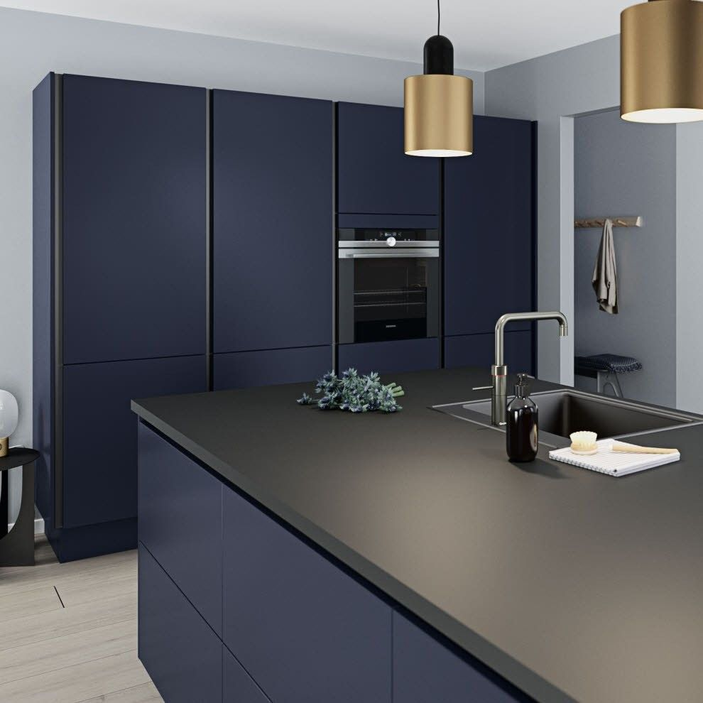 10 Black Kitchen Area Closet Concepts For Stylish Chefs Navy Kitchen Cabinets European Kitchen Cabinets Modern Kitchen