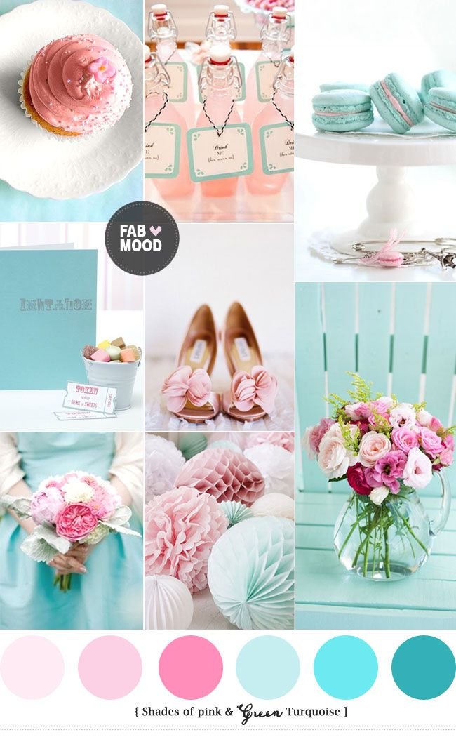 Turquoise Pink Wedding Colors | http://www.fabmood.com/turquoise ...