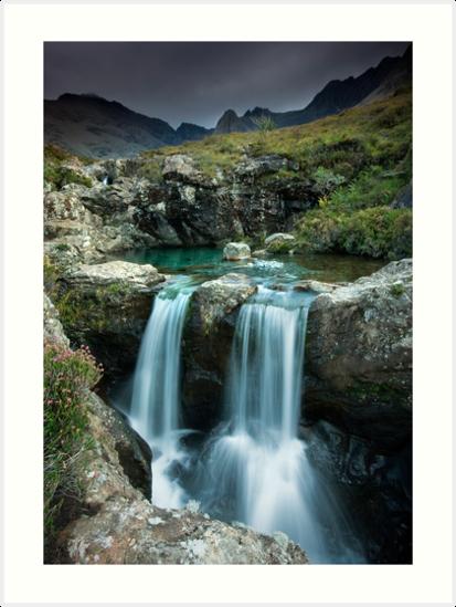 "Isle of Skye : Twin Fairy Falls"" Art Prints by Angie Latham ..."