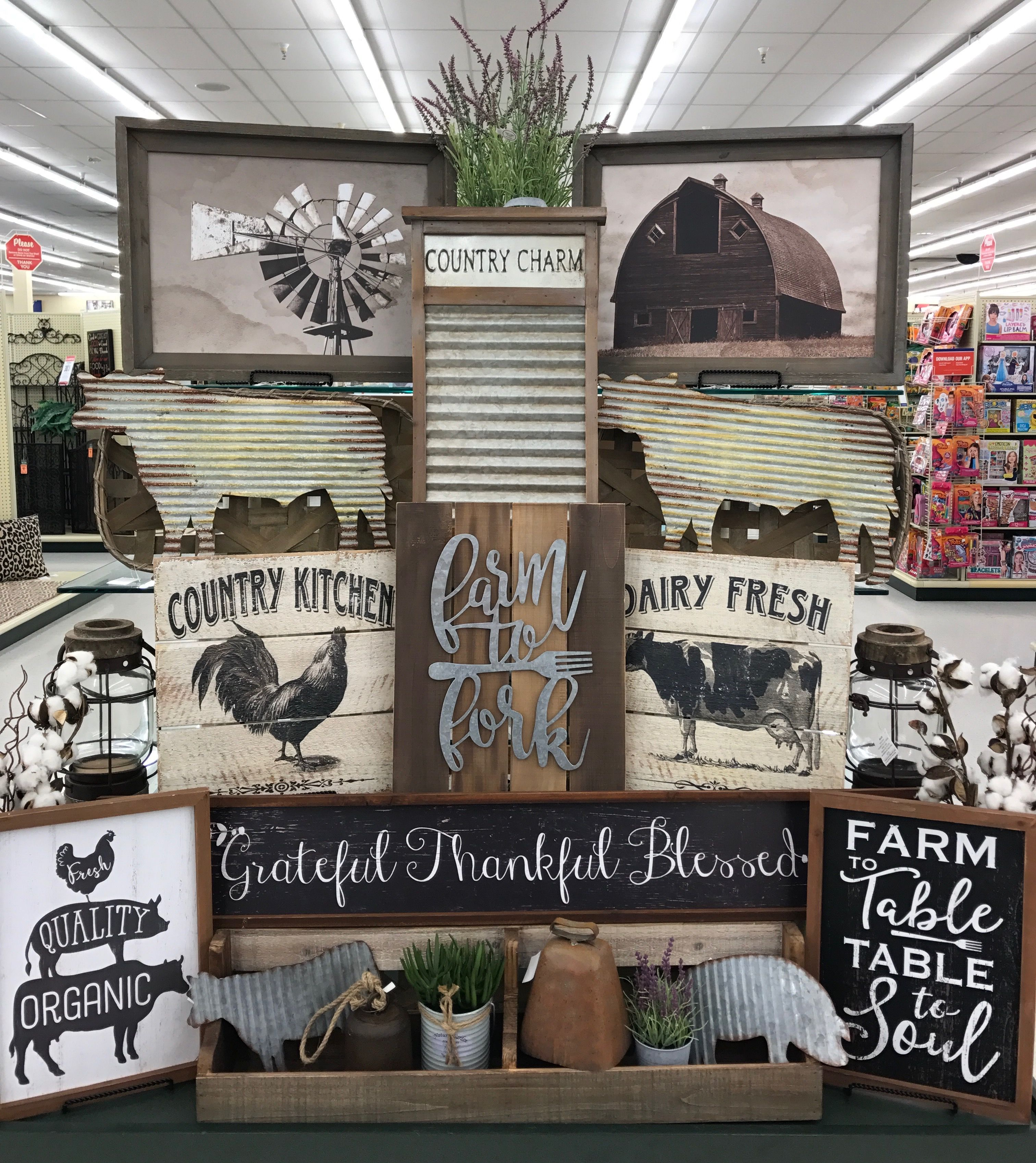 Farm house Kitchen decor hobby lobby, Living room decor