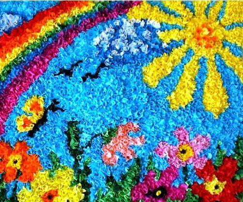 Collage para hacer mural de primavera con papel pinocho for Como dibujar un mural en la pared