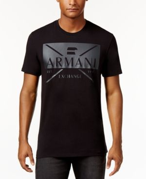 Armani Exchange Men s Graphic-Print T-Shirt - Black L  2c200fe75a