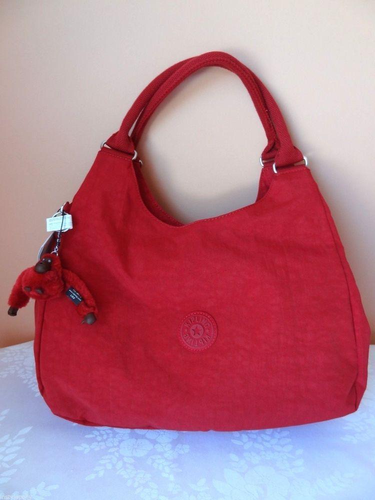 f9c6e77a908 Kipling Handbag Bagsational Hobo Travel Shoulder Bag Tote Red Chili Pepper  NEW #Kipling #Hobo