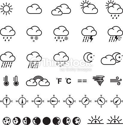ベクトルアート : Weather icons. Vector illustration. Set