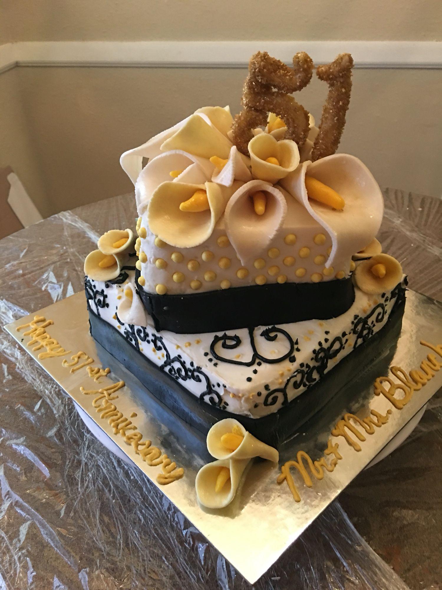 51st Anniversary Cake Anniversary Cake Desserts Cake