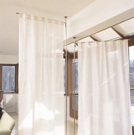 Anywhere Telescoping Curtain System From Umbra Fabric Room