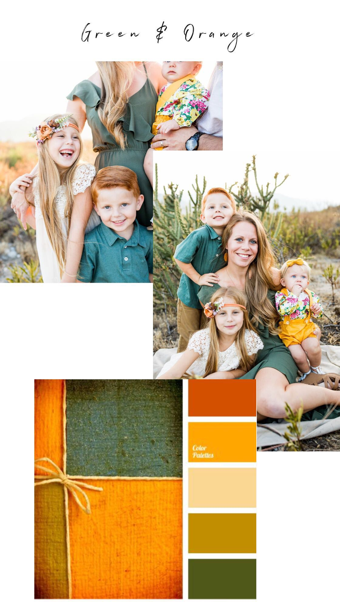Green And Orange Family Outfits Family Picture Colors Picture Color Schemes Home Depot Exterior Paint