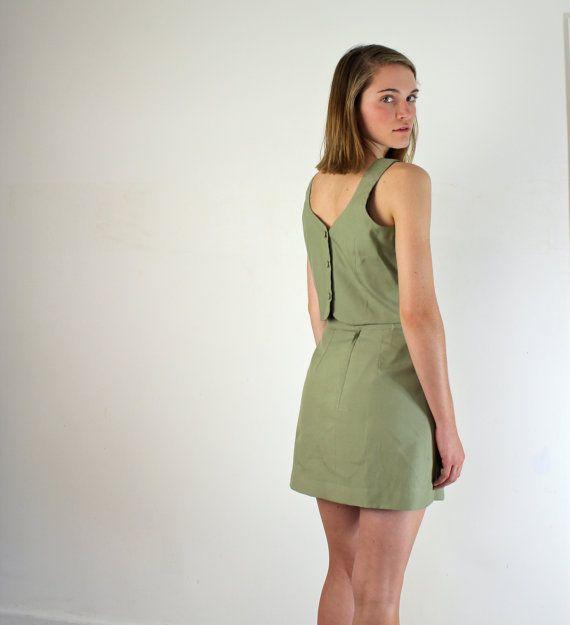 Parisian Suit  Sage Green Dress Set by jessjamesjake on Etsy, $58.00