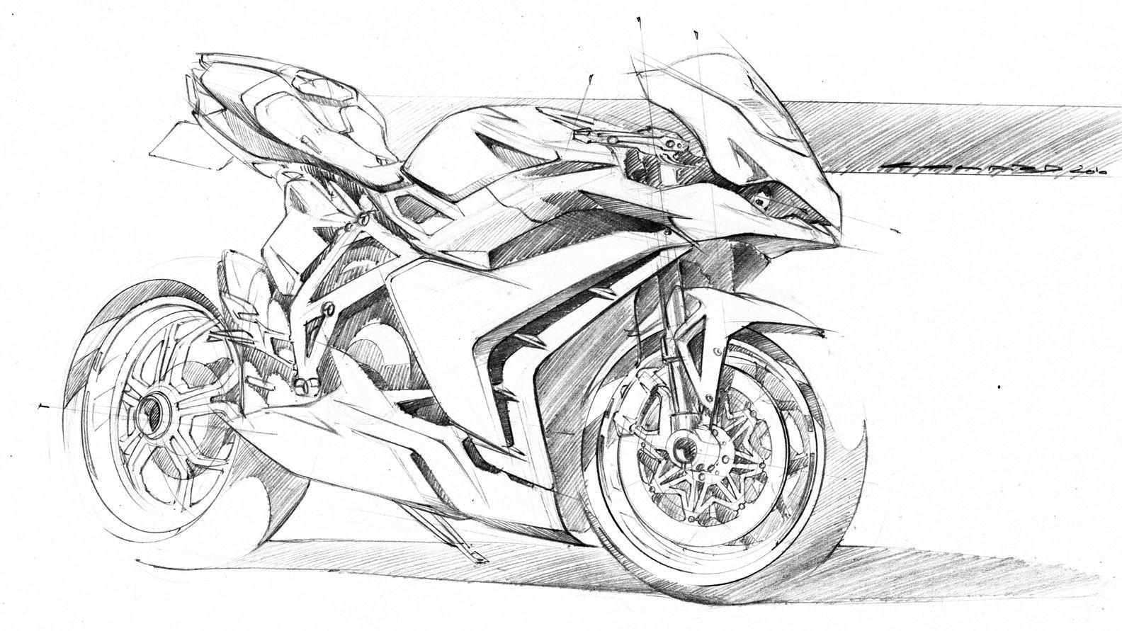Motorcycle Concept Sketch By Colard