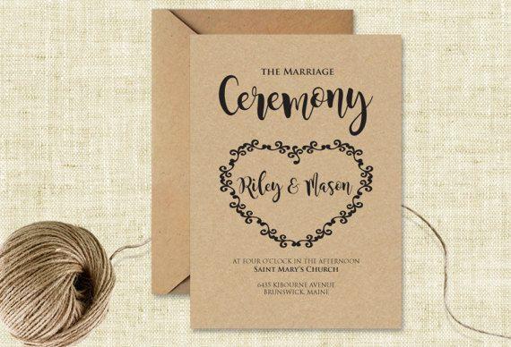 Wedding Invitation Instant Download Editable Wedding Invitation