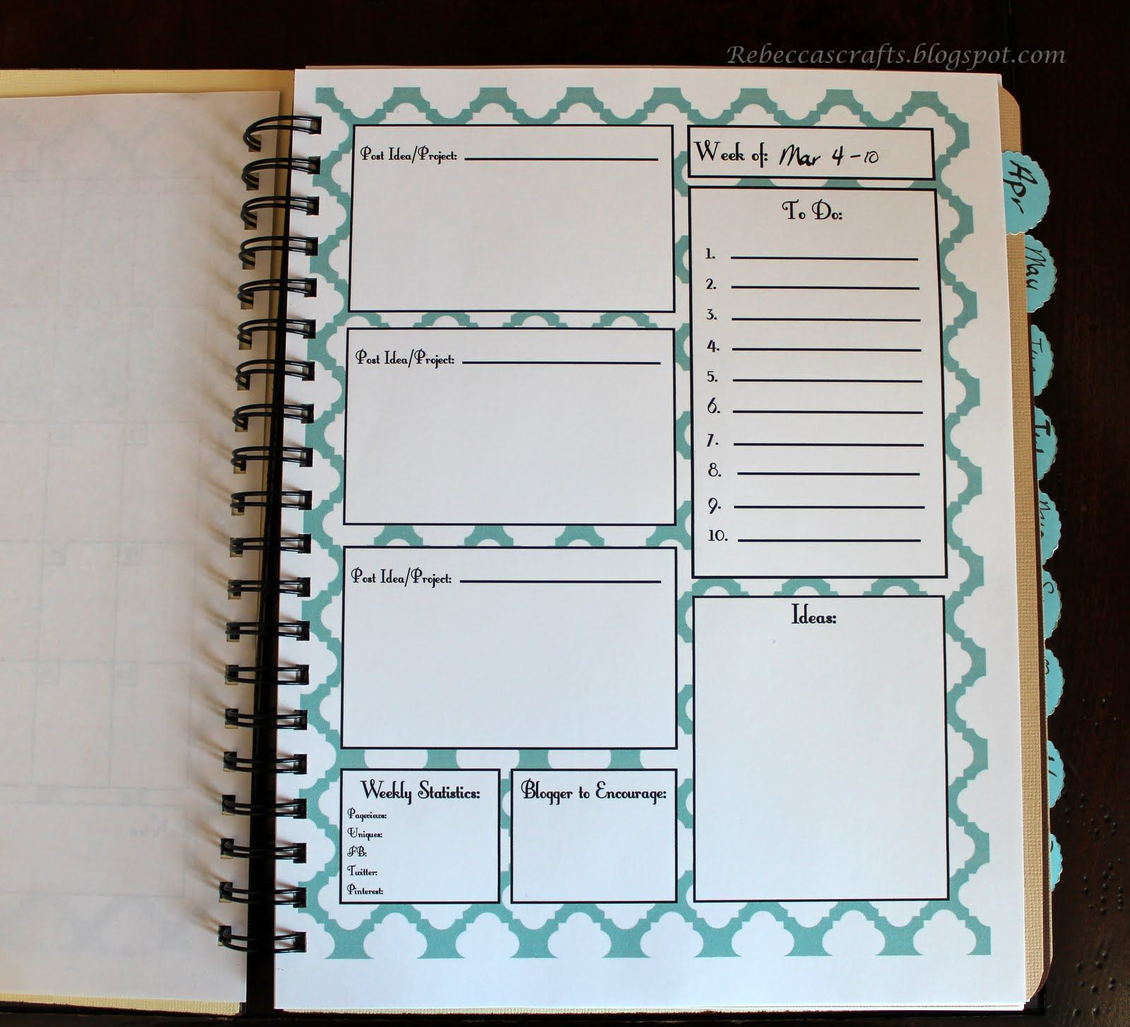 interesting notebook page design