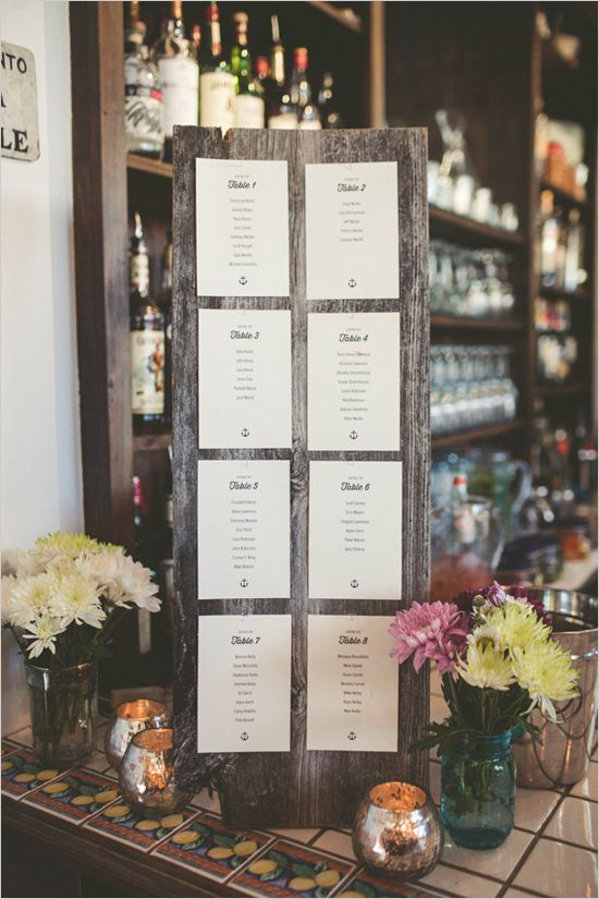 Seating chart rustic wedding ideas easy reception decor weddingchicks also relaxed and stylish cape cod escort cards  place rh pinterest