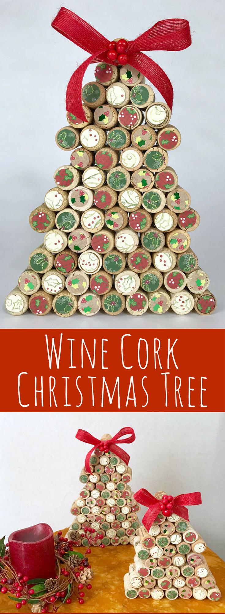 Wine Cork Christmas Tree Country Handmade Rustic Decor