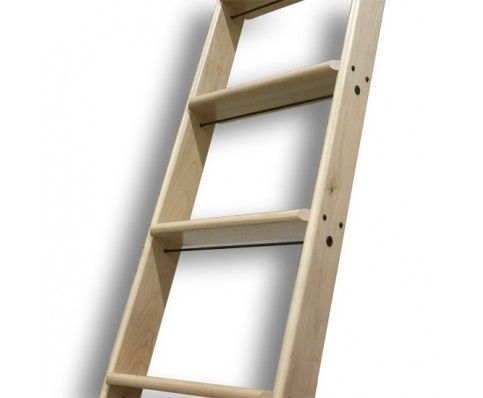 Walnut Ladder 10 Ft Unassembled Unfinished Library Ladder Rolling Ladder Ladder