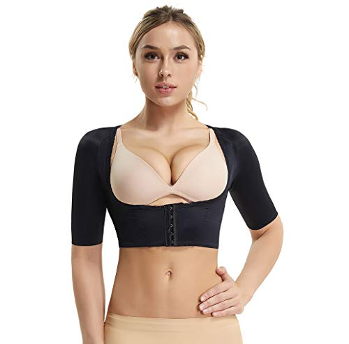Womens Ladies Seamless Slim Upper Arm Sleeves Compression Vests Corrector New
