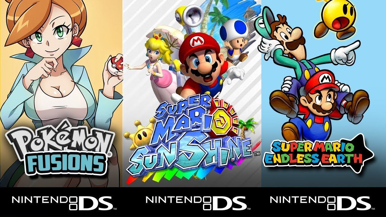 Top 5 Hack Roms Ds Nds Pokémon Super Mario Sunshine Mario Kart Drastisch Emulador