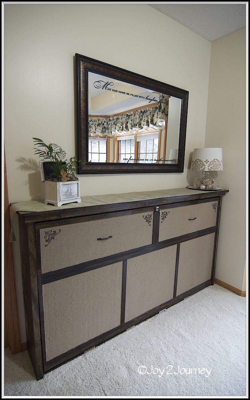 "Ana White DIY Furniture Blog this ""dresser"" is a Murphy"
