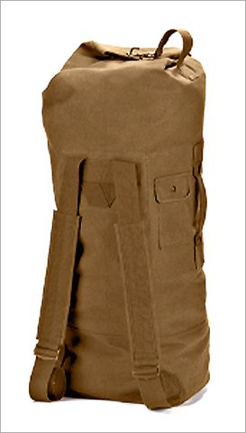 The Military style Coyote Brown Canvas Backpack Duffle Bags have many  traveling options. These backpack 9b021c97d3c83