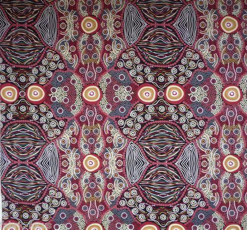 Australian Aboriginal Pattern; Wild-Coconut Quilting Fabric