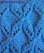 free knitting stitch patterns Propellers & other leaf stitch patterns