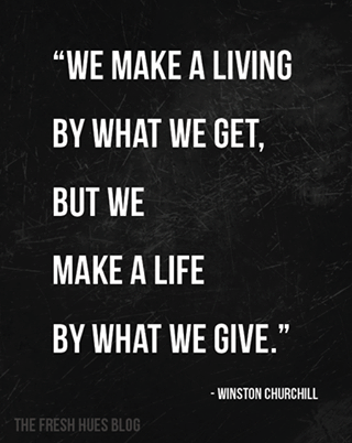 What we give.