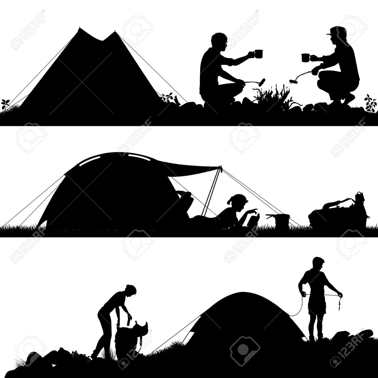 Image result for camping vector | * Camping Clipart, Decor ...