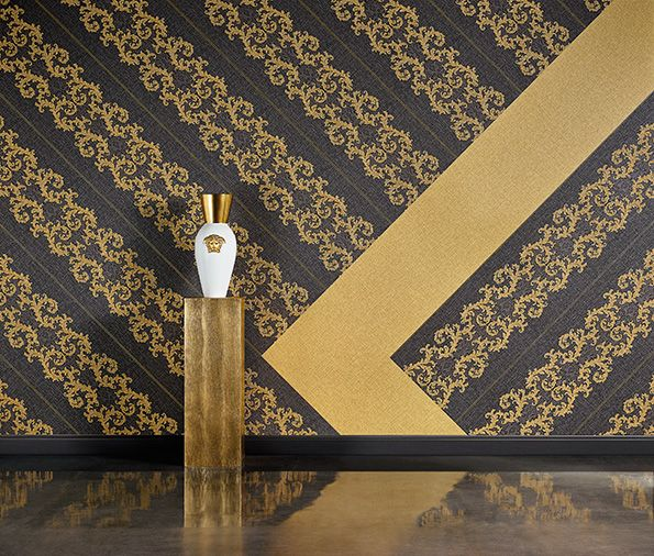 Versace Baroque And Roll From Ornamental Splendour Home  Exclusive New Versace Wallpaper