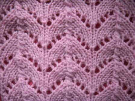 Ажурный узор сердечки спицами схема фото 136